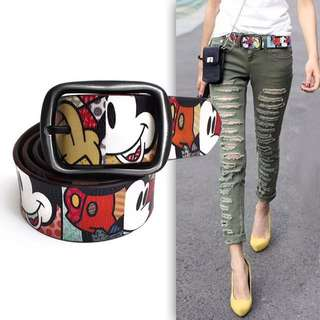 Ladies Mickey Mouse Belt 110cm