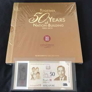 SG50 Commemorative $50 (S1) With Folder