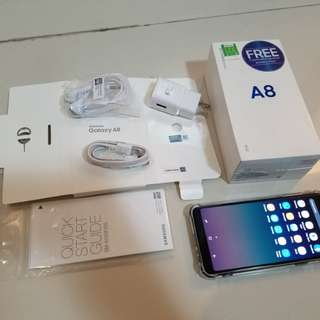 Samsung Galaxy A8 2018 Black NTC Complete Good as Bnew