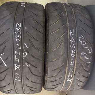 245/40/17 dunlop z2 star 2pc used tyre 60% tread $45pc
