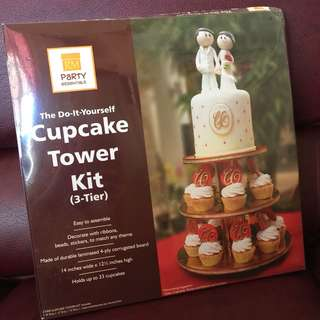 Gold 3-Tier Cupcake Stand Kit