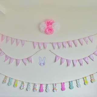 Bunny Rabbit Happy Birthday Buntings
