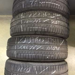 185/60/15 michelin used tyre 4pc available 75% tread $35pc
