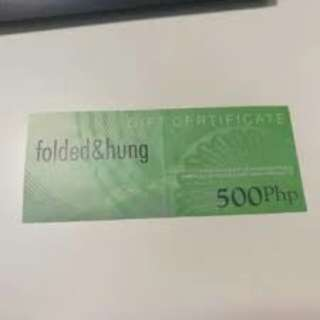 FOLDED AND HUNG GC