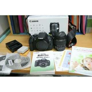 canon 650D lens 18-55mm IS