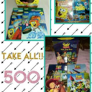 TAKE ALL BRAND NEW BOOKS! SPONGEBOB TOY STORY