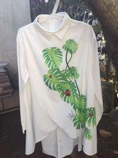White Shirt floral