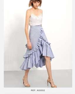 BN wo tag Saturday Club Pinstripe Skirt