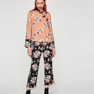 Brand New Zara Oriental Style Pants Set