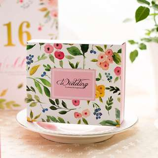 PO Floral Paint Wedding Pull Out Box