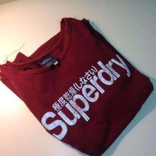 Superdry極度乾燥 發光上衣 短版T-shirt