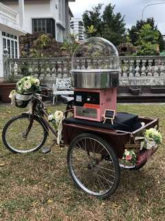 ❤️ Tricycle with cargo deck for rent. Great for display, F & B, outdoor bazaar etc.