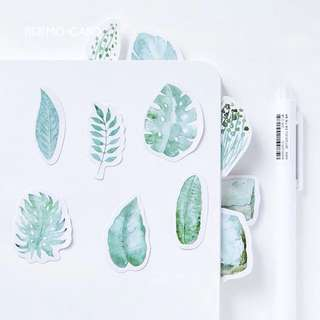 po: 45pc leaf stickers