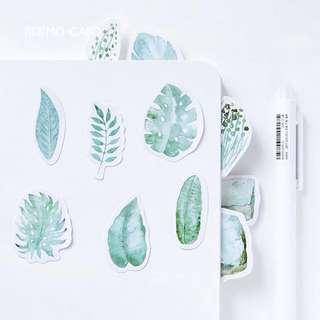 po: 45pc leaf stickers