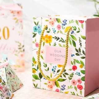 PO Floral Paint Wedding Gift Favor Bag
