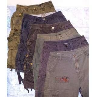 5 pcs Six Pocket Cargo Shorts