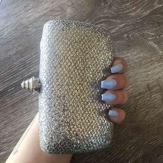 Silver sparkle Colette Clutch