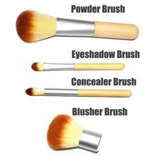 $10.90 Free Mail complete Bamboo eco makeup eyeshadow blusher brushes