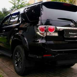 Toyota Fortuner Vnt G 2.5 AT diesel 2015 hitam metalik