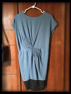BCBG Cut-label blue dress