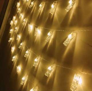 BNIP fairy lights with clips
