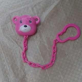 Gantungan teether beruang pink