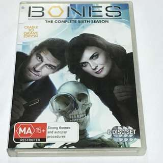 6DVD•CLEARANCE SALES {DVD, VCD & CD} BONES THE COMPLETE SIXTH SEASON : Strong themes and Autopsy procedures - 6DVD