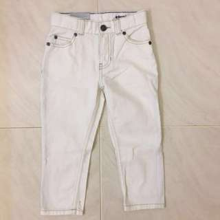 BNWT Authentic Carter's White Jeans for Boys