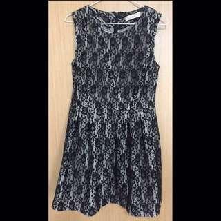 黑色 Lace喱士 連身裙 One-piece Dress