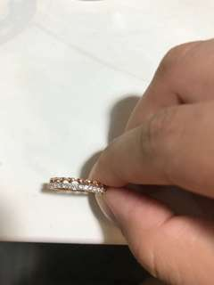 WTS: Goldheart Rose Gold half eternity ring with hearts details
