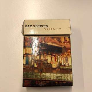 Sydney Australia bar drinking cards with map