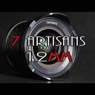 7artisans 12mm F2.8 (apsc)Fx,Eos-m,E-mount