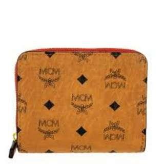 MCM Patricia Visetos Accordion Wallet Cognac/Red
