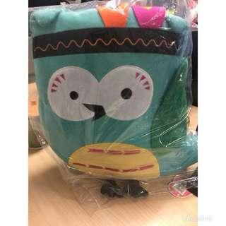 brand new owl cushion toy