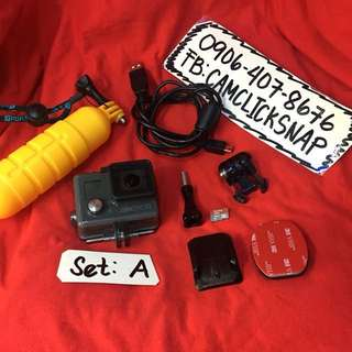 Gopro Hero+ plus LCD selfie stick and accesories bluetooth and wifi ready