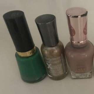 🖤 6x Nail Polish Bundle - $93 Value! OPI, Revlon, Sally Hansen & more