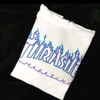 Thrasher hoodie 紫火