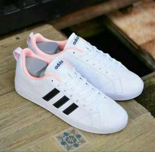Adidas Neo Advantage Vall Stripe White Pink