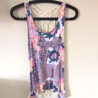 Forever21 Lace Floral Top w/o tag