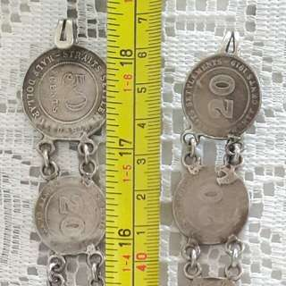 Strait Settlements Silver Coin Belt