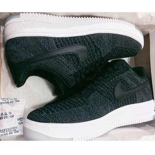 Authentic Nike Air Force One Flyknit Low Black-White