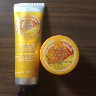 The Body Shop Hand Cream and Lip Balm Honeymania Set