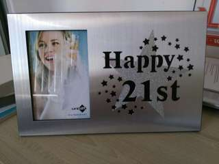 Happy 21st Photo Frame brand new