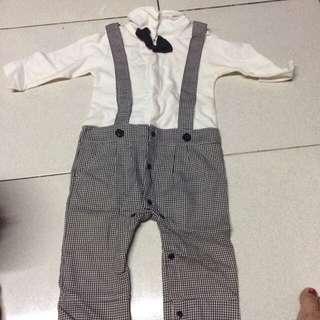 Cotton Jumpsuit with Vest
