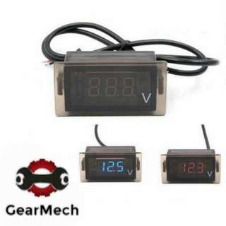 Motorbike Voltmeter Red LED (Up To 24V)