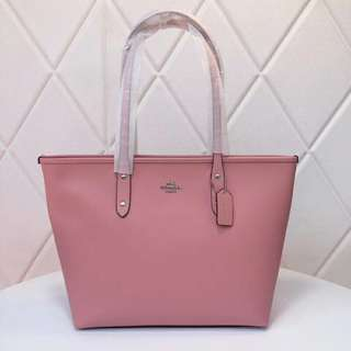 Coach City Tote in Crossgrain leather