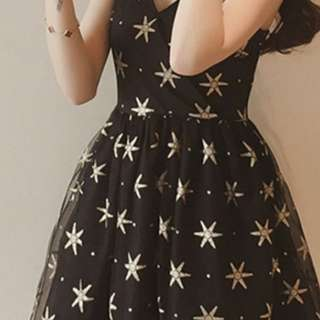 Black Fit & Flare Above the Knee Dress