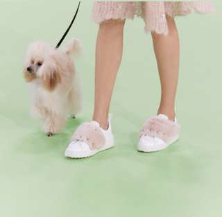 VALENTINO Mink Fur Sneaker shoes