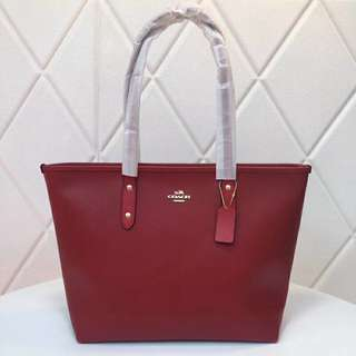 Coach City Tote - Red