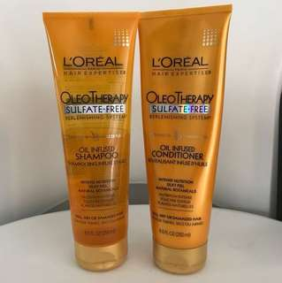 #Buy2get1free L'Oréal Oleo therapy oil-infused shampoo and conditioner set